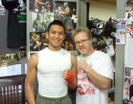 Johnny with Freddie Roach