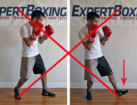 boxing footwork tips - heel push