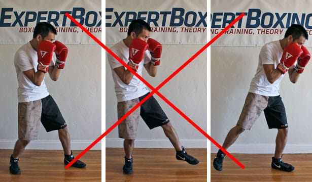 boxing footwork tips - stiff upper body