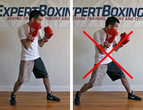 boxing footwork tips - wide stance