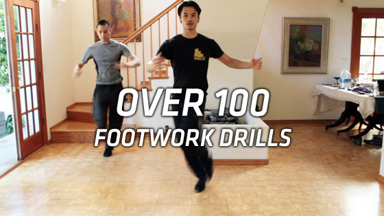 Fighting footwork drills