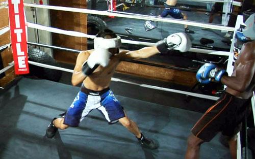 fighting footwork