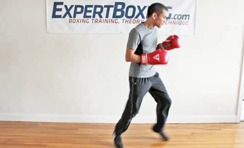 Boxing bounce step