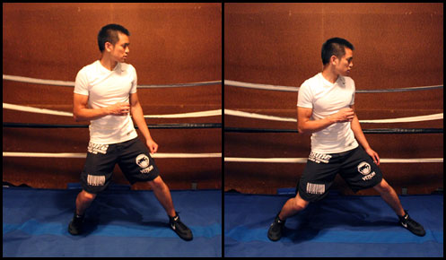 boxing stance - heavy vs too heavy
