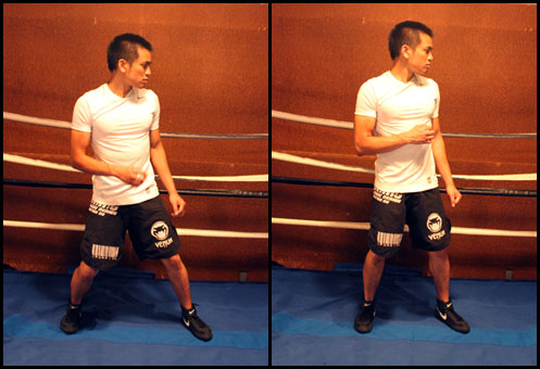 boxing stance high VS too high