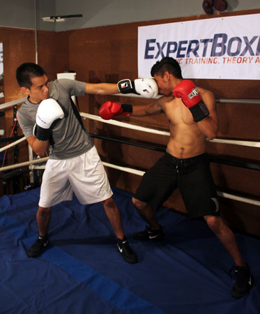 Extended left against southpaw