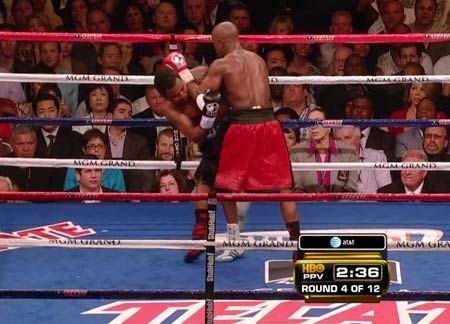Mayweather forearms on the inside